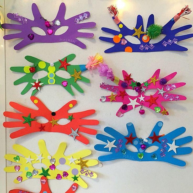 Zu Fasching basteln im Kindergarten – Bastelideen für Masken, Accessoires und Deko