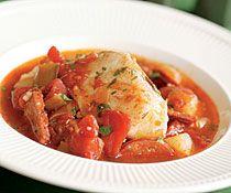 Cod Stew with Chorizo, Leeks & Potatoes