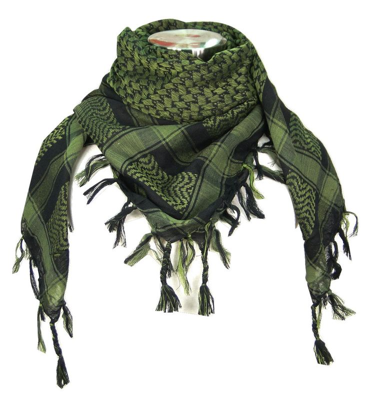 Amazon.com: Premium Shemagh Head Neck Scarf. Love the green! Black is cool too.
