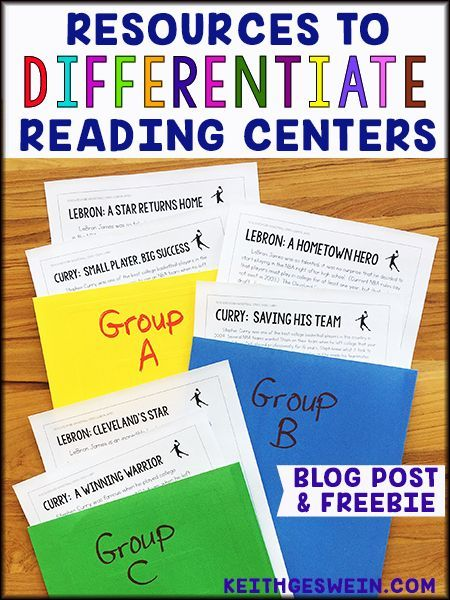 Ideas and free resources that will make it easier for you to differentiate your nonfiction reading centers.