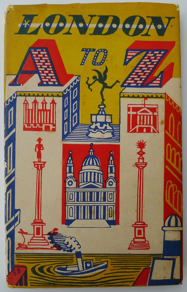 London A to Z linocut illustrations by Edward Bawden (1953)