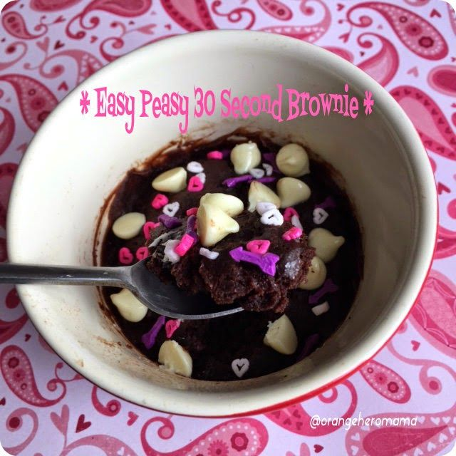 Home of OHM: Easy Peasy 30 second Brownie! #recipe #nationalbrownieday aka Mug Brownie