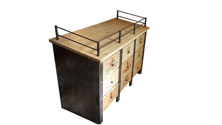 meuble caisse de vins fabrication sur mesure  website:http://www.douelledereve.com/