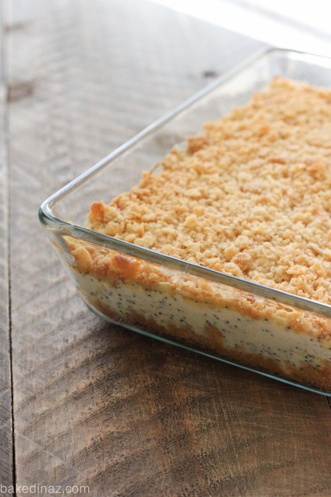 Poppy Seed Chicken Casserole. 6 ingredients for a delicious, easy dinner!