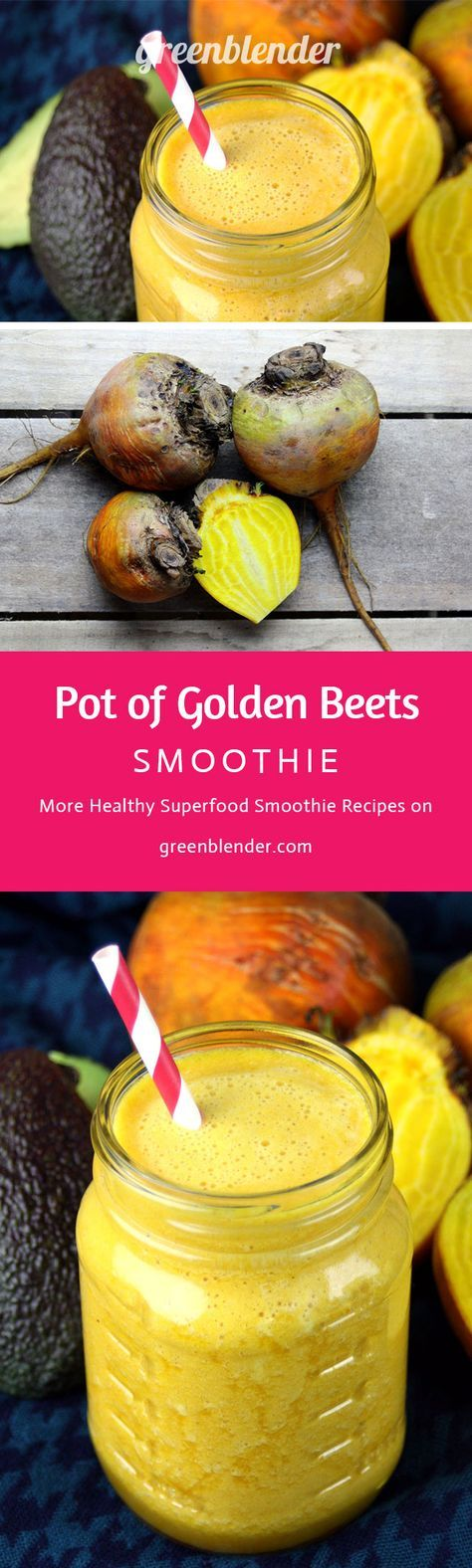 Pot of Golden Beets Smoothie Recipe by Green Blender: This simple smoothie is overflowing with so many health benefits, it just might be better than a pot of gold! Golden beets are very mild and sweet compared to their red counterpart. Cara cara oranges are sweet and tangy, providing the perfect contrast to the earthy taste of beets. These oranges also load this smoothie with vitamin C and folic acid, keeping your immunity strong and heart protected. Cara cara oranges are a cross between the…