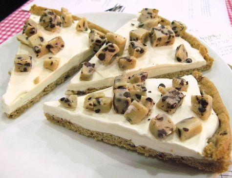 Cookie dough ice cream pizza