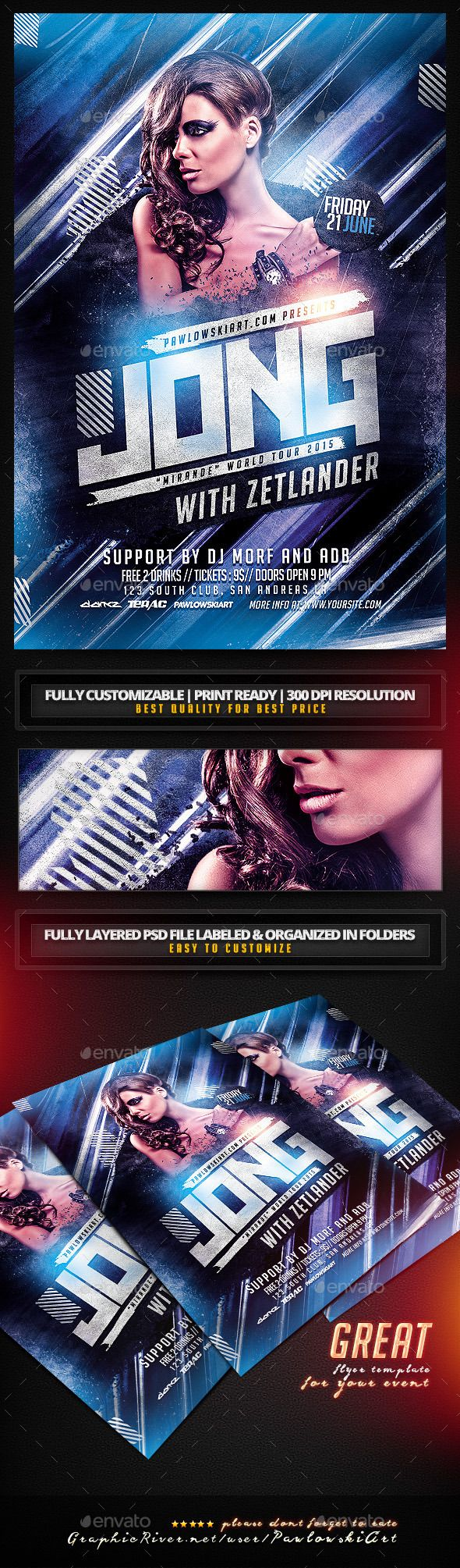 Special Guest DJ v3 PSD Flyer Template - Clubs & Parties Events