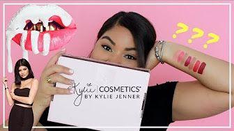 Kylie Cosmetics Velvet Liquid Lipsticks. Review and Demo. youtube.com/laladickson