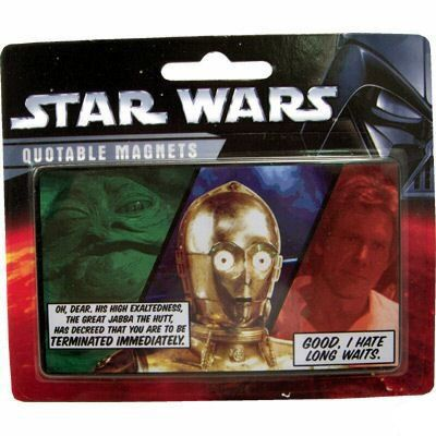Star Wars fridge magnet. Han Solo and C3PO Quotable Fridge Magnet @ niftywarehouse.com #NiftyWarehouse #Geek #Products #StarWars #Movies #Film