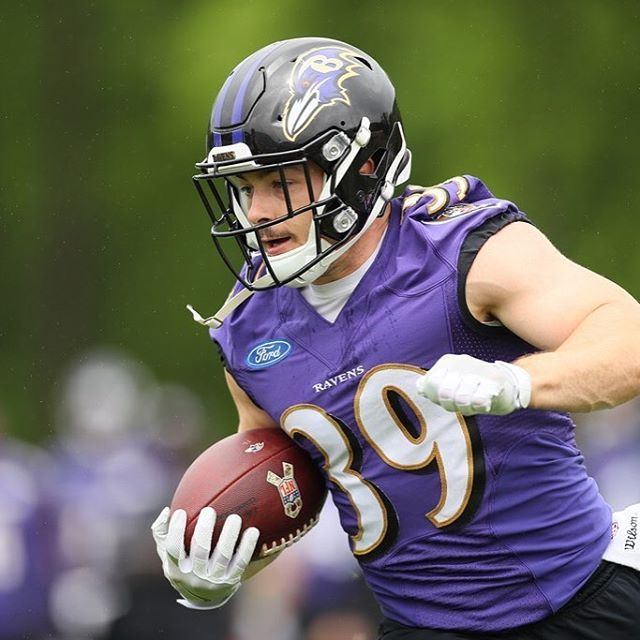 Danny Woodhead is right at home in the purple and black.