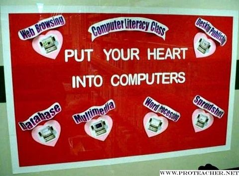 Computer Lab: Put Your Heart Into Computers Bulletin Board