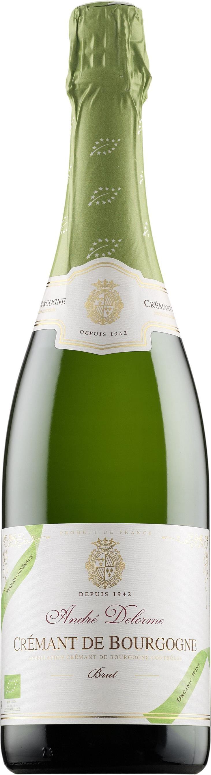 André Delorme Crémant de Bourgogne Organic Brut. France:: Pinot Noir, Chardonnay, Aligoté. 17,89 €. Erittäin kuiva, hapokas, sitruksinen, viheromenainen, mineraalinen, tasapainoinen, raikas