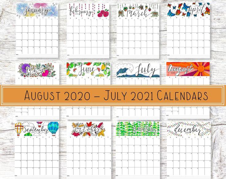 Academic Wall Planner Printable School Year Calendar 2021