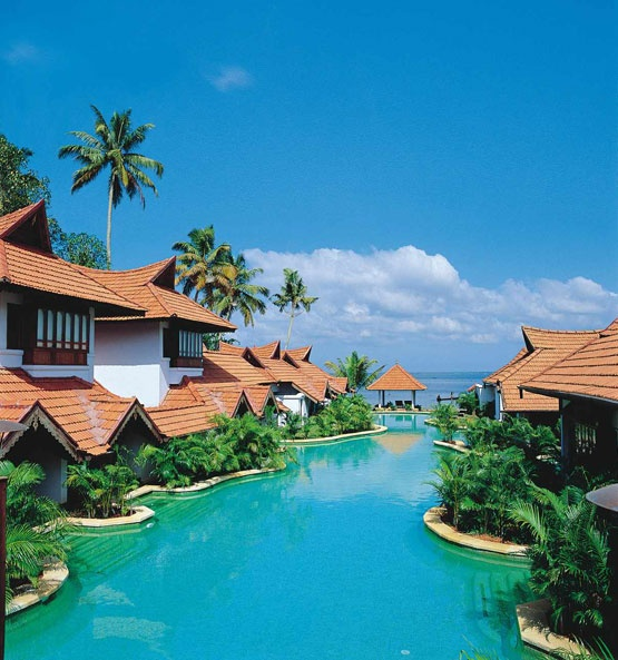 Kumarakom Lake Resort in Kottayam (in Kerala, India). About $215 per night.