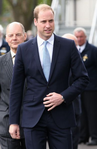 Prince William, Duke of Cambridge arrives at the Royal Navy Submarine Museum, 12.05.14 in Gosport, England.
