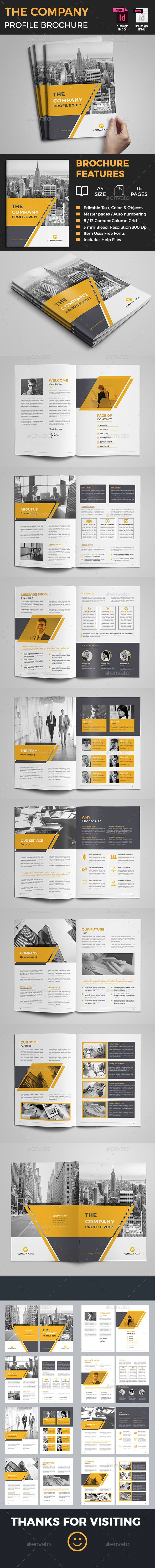 #Company #Profile #Brochure - Corporate Brochures Download here: https://graphicriver.net/item/company-profile-brochure/20354022?ref=alena994
