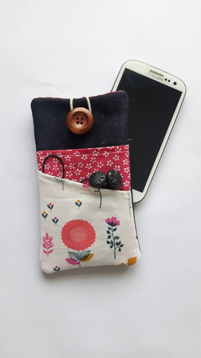 iPhone 6 Plus sleeve Samsung Galaxy S7 Edge fabric pouch iPhone 4 case  iPhone 6S cover Galaxy S6 Sony Experia, Microsoft Lumia 950 Nexus by CurlyEmmaEmbroidery on Etsy