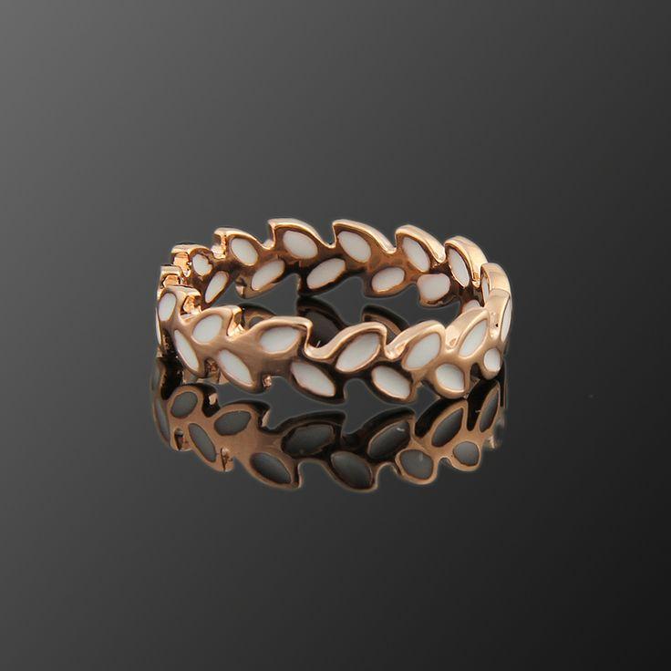 Zeytin Dalı Yüzük - Avusturya kristali - Swarovski taşlar - Altın kaplama - Aksesuar - Yüzük - Dalya Takı Austrian Crystal - Swarovski stones - Gold plated - Rose gold - Accessory - Ring - Olive Branch