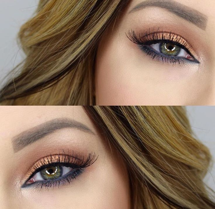 Bronze Eyeshadow Look For Green Hazel Eyes Make Up Looks