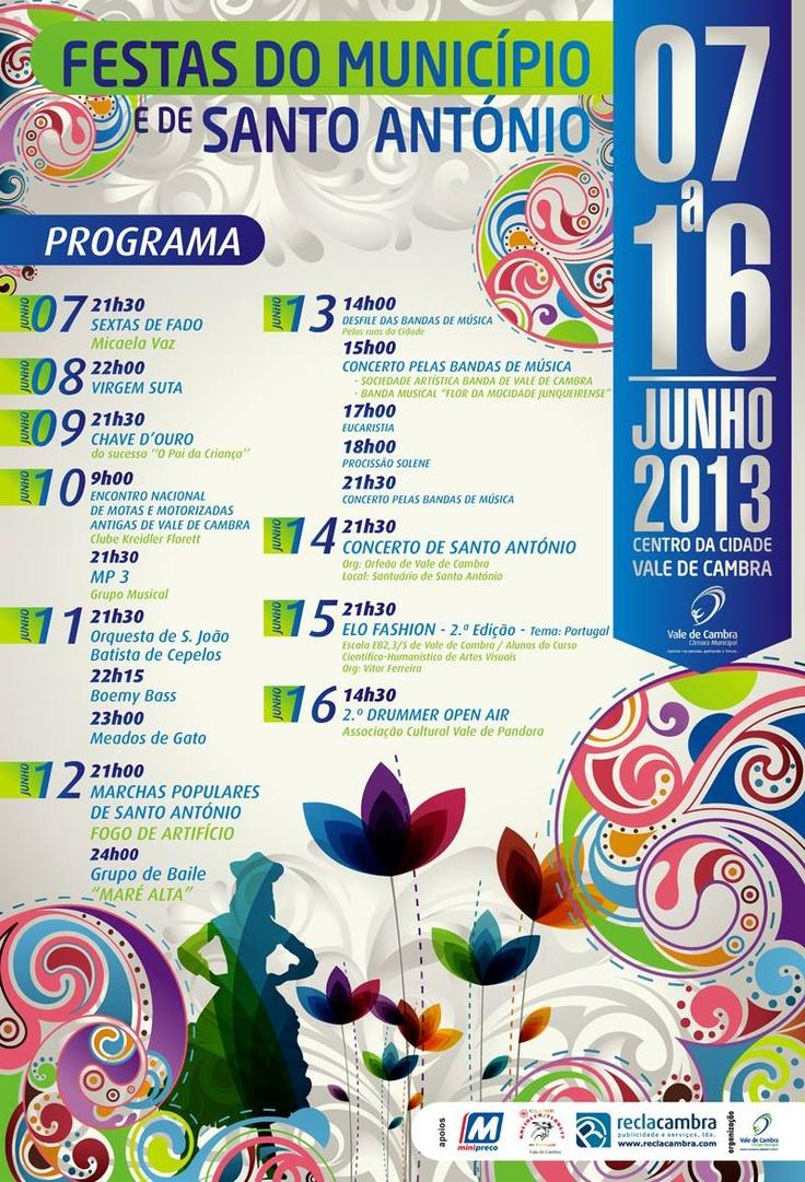 Festas do Município e de Santo António > 7 a 16 Junho 2013 @ Vale de Cambra #ValeDeCambra