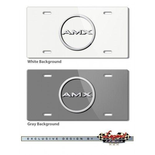 AMC AMX 1968 - 1970 Vintage Logo Novelty License Plate