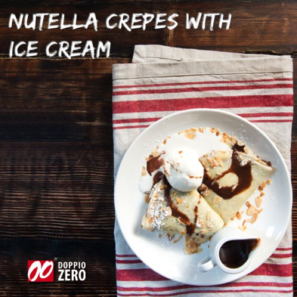 Dessert. Nutella crepes.