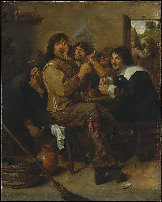 Adriaen Brouwer (Flemish, 1605/6–1638). The Smokers, ca. 1636. The Metropolitan Museum of Art, New York. The Friedsam Collection, Bequest of Michael Friedsam, 1931 (32.100.21) #mustache #movember