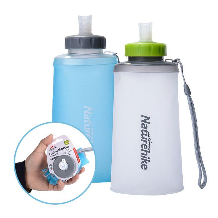Naturehike Portabel Cangkir Silikon Lipat Tas Olahraga Air Berkemah Di Luar Ruangan Tas Perlengkapan Minum Dengan Jerami Ketel Perjalanan Botol Air