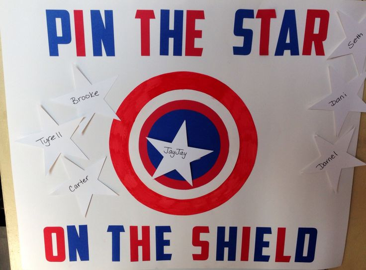 Captain America Version of pin the tail on the donkey