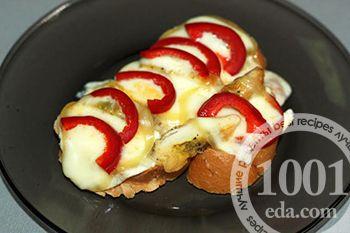 Горячие бутерброды с отбивной и плавленым сыром