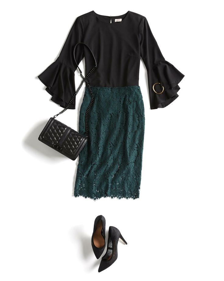 Both of these main pieces take my favorite standards and jazz them up in a fun way. Wonder how the skirt would look with boots or flats, though...