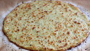 Masa para pizza hecha con coliflor y semillas de chia con beneficios para el corazón y prevención del cáncer