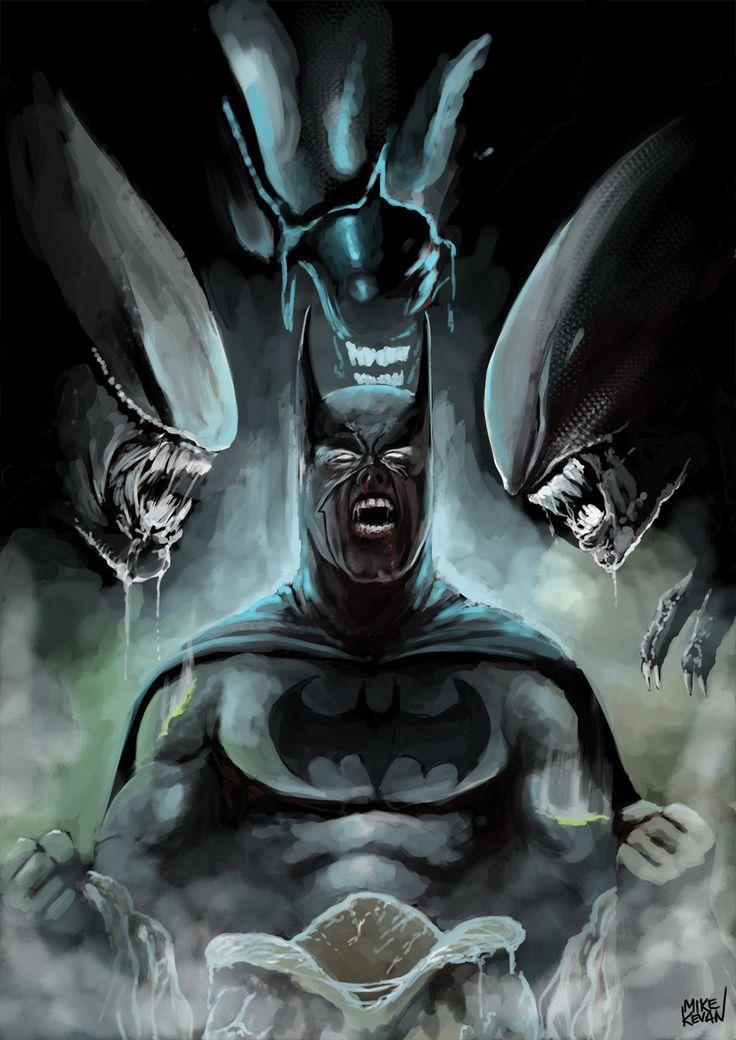 batman vs alien by - photo #14