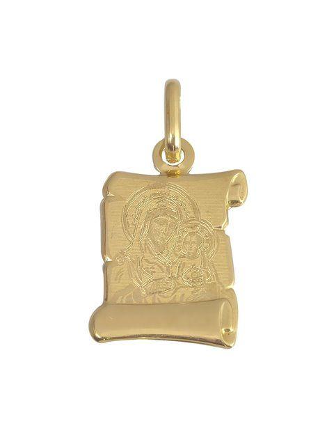 Παναγίτσα Φυλακτό Χρυσό 14Κ Αναφορά 002676 Μια παναγίτσα φυλακτό που μπορείτε να χαρίσετε σε ένα νοεγέννητο από Χρυσό 14Κ σε κίτρινο χρώμα που μπορεί να συνδυαστεί με αλυσίδα Χρυσή.