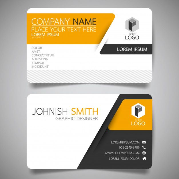 Yellow And Black Layout Business Card Template