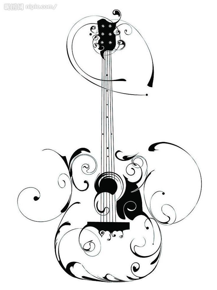 Guitar Silhouette Design By Dena