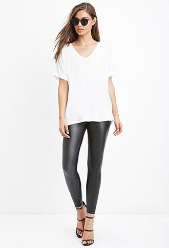 Forever 21 leather leggings