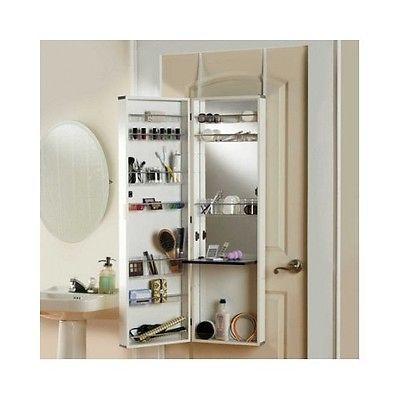 over the door mirror make up cosmetic medicine cabinet vanity bathroom organizer wall mount. Black Bedroom Furniture Sets. Home Design Ideas