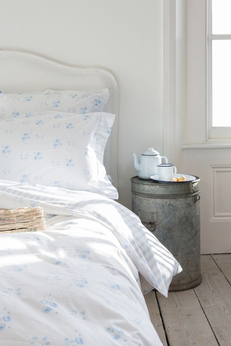 CABBAGES & ROSES for John Lewis | Catherine Rose Blue Bed Linen
