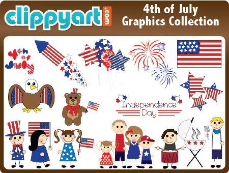 4th of july birthday clip art