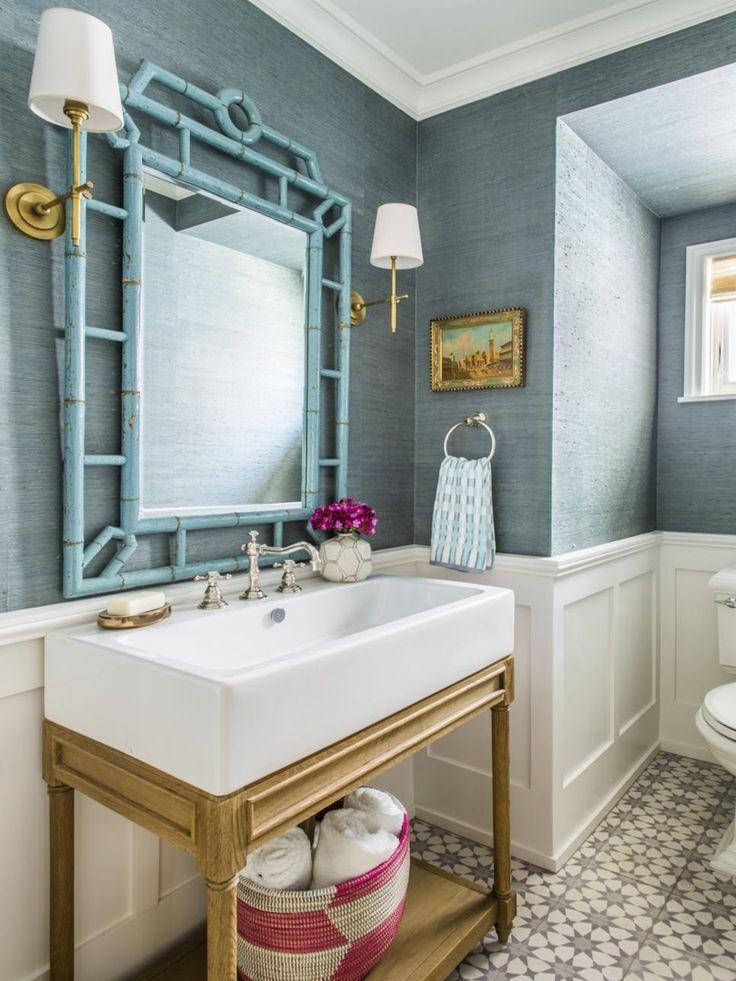 Best Wallpapered Bathroom Images On Pinterest Bathroom Ideas