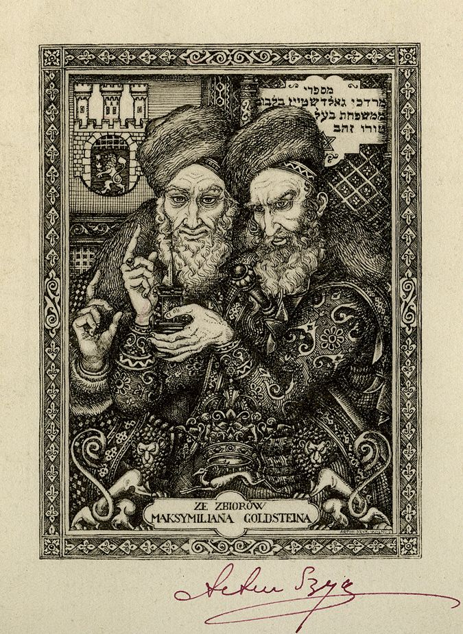 Bookplate signed by Arthur Szyk.