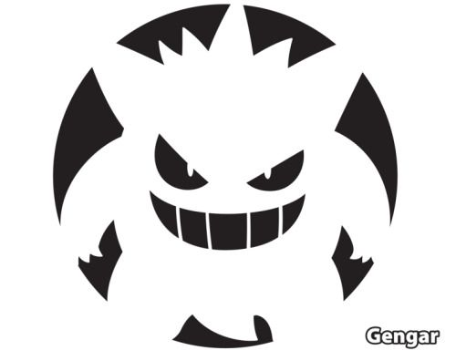 Pok mon pumpkin stencils you don t just have to use for Pokemon jack o lantern template