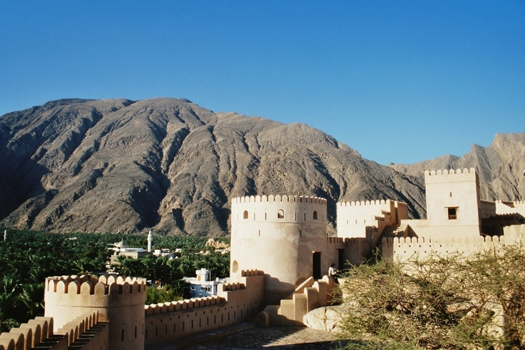 The Bahla Fort in Oman one of four historical fortresses in the area and a UNESCO World Heritage Site