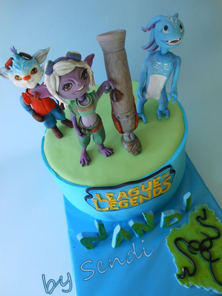 League of Legends cake-Tristana,Fizz,Rumble/fondant