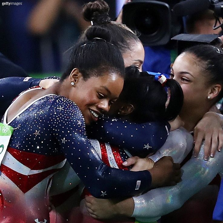 U.S. Olympic Team ‏@TeamUSA  Aug 9 The Final Five.   USA Gymnastics, Simone Biles, Laurie Hernandez ➶ and 3 others
