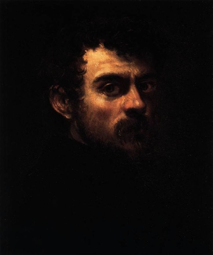 Self-Portrait by  Tintoretto // This guy helped create Mannerism and worked with chiarascuro, a blending of light and dark to make shadows. Boom. Acdec.