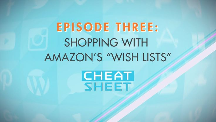 In our third episode of Cheat Sheet, we take a look at becoming a Holiday Gift Giving Hero with Amazon.com's Wish Lists. Learn how to easily create and share lists for yourself and others and take the guesswork out of your buying.