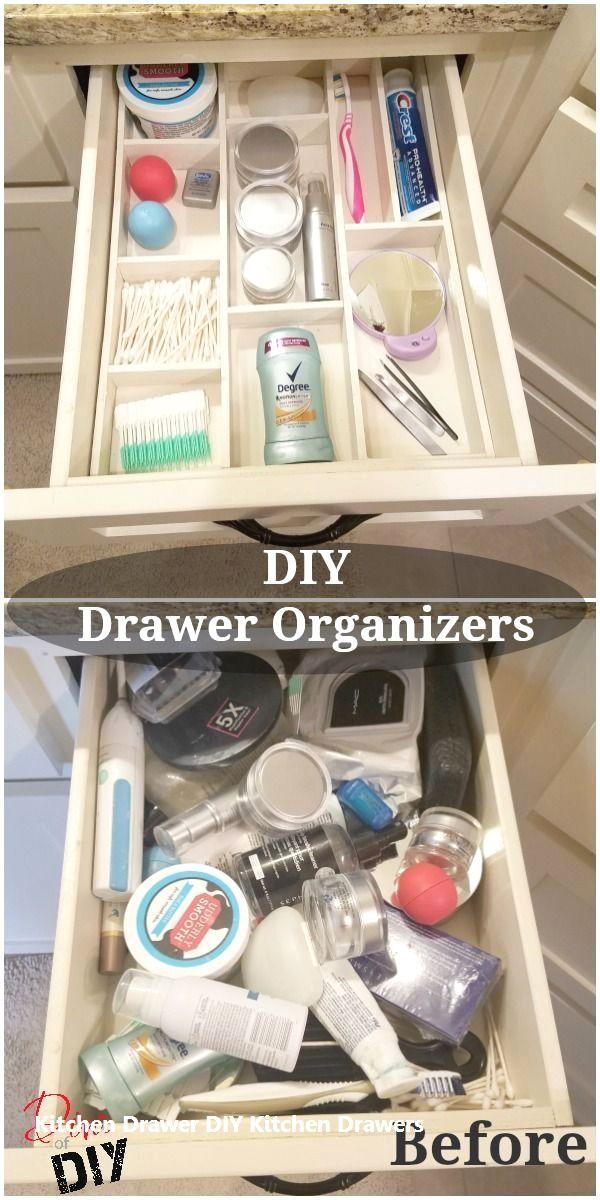 New Kitchen Drawers Ideas Kitchendrawer Diy Drawer Organizer