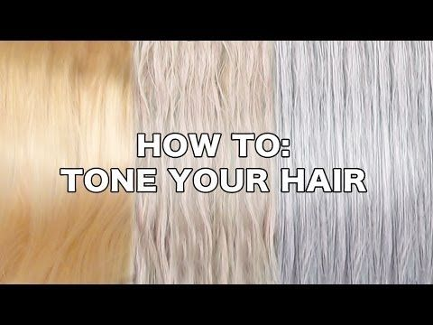 HOW TO TONE YOUR HAIR.  I find this method to be way less damaging & easier than bottle toners with no developer needed. CAREFUL: I have accidentally colored my hair lilac a couple of times leaving the mix on too long, but it was a nice shade of pastel lilac and washed out in a couple of washes. No biggie, just watch your timing. - Katee :0)